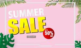 Sommerschlussverkauf-Fahnen-Vektor-Illustration Stockfoto