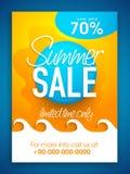 Sommerschlussverkauf-Flieger-, Plakat- oder Fahnendesign Stockfotografie