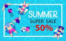 Sommerschlussverkauf-Hintergrund stockfoto