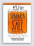 Sommerschlussverkauf-Plakat-, Fahnen- oder Fliegerdesign Stockbilder