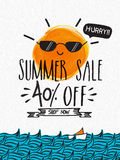 Sommerschlussverkauf-Plakat-, Fahnen- oder Fliegerdesign Lizenzfreie Stockbilder