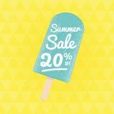 Sommerschlussverkauf 20% weg stock abbildung