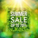 Sommerschlussverkaufanzeigenplakat stock abbildung