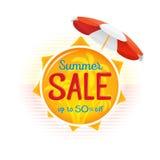 Sommerschlussverkaufaufkleber-Preisfahnenausweisschablonen-Aufkleberdesign Lizenzfreies Stockbild