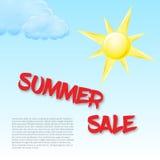 Sommerschlussverkaufkonzeptschablone Stockfoto