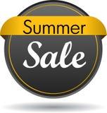 Sommerschlussverkaufnetz-Knopfikone Stockfotos