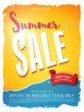 Sommerschlussverkaufschablonenfahne Stockfoto