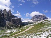 Sommerschnee in den Dolomit Lizenzfreie Stockbilder