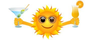 Sommersonne und -getränke vektor abbildung