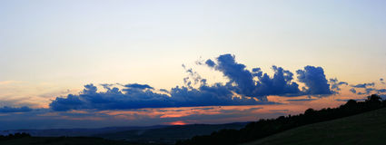 Sommersonnenuntergang Stockfoto