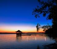 Sommersonnenuntergang Stockbilder