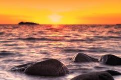 Sommersonnenuntergang Stockfotografie