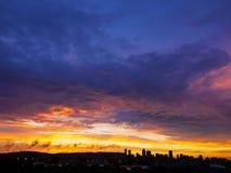 Sommersonnenuntergang Stockbild