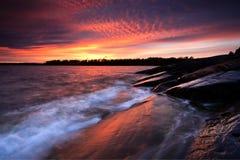 Sommersonnenuntergangfarben lizenzfreie stockfotografie