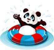 Sommerspaß Panda lizenzfreie abbildung