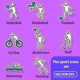 Sommersport, Ikonen Stockfotografie