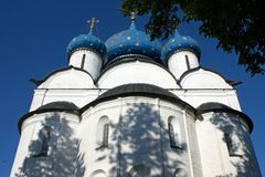 Sommerstadtlandschaft in Suzdal Russland stockfotos