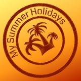 Sommerstempel Stockfoto