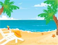 Sommerstrand lizenzfreie abbildung