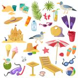 Sommerstrand-Einzelteilsatz lizenzfreie abbildung