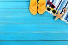 Sommerstrand-Hintergrundgrenze Stockbild