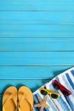 Sommerstrand-Hintergrundgrenze Lizenzfreie Stockfotografie