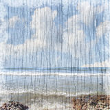 Sommerstrandhintergrund Stock Abbildung