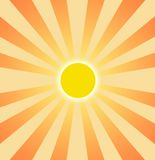 Sommersun-Einstellung langsam vektor abbildung