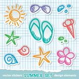 Sommersymbole Lizenzfreies Stockbild