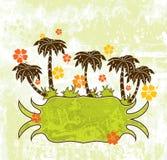 Sommerszene, Palmen, Vektor Stockfoto