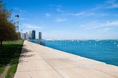 Sommertag in Chicago lizenzfreies stockbild