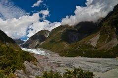 Sommertag am Fox-Gletscher Lizenzfreies Stockfoto