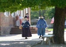 Sommertag in historischem Williamsburg Lizenzfreie Stockbilder