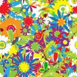 Sommertag. Nahtloser mit Blumenhintergrund lizenzfreie abbildung