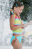 Sommertag am Swimmingpool. Stockfotos