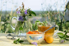 Sommerteezeit Stockfoto