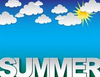 Sommertypographiehintergrund Stockfotografie