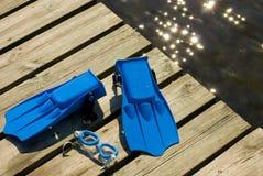 Sommerunterwasseratemgerät stockfotografie
