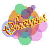 Sommervektordesign Stockfotos