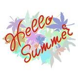 Sommervektordesign Lizenzfreies Stockbild