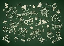 Sommervektorillustration Lizenzfreies Stockbild
