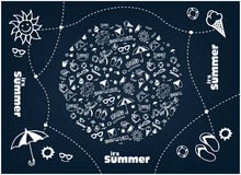 Sommervektorillustration Lizenzfreie Stockfotografie