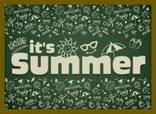 Sommervektorillustration Stockbild