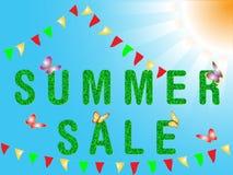 Sommerverkauf Stockfoto