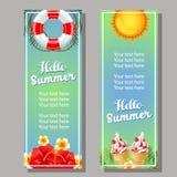 Sommervertikalenfahne Lizenzfreie Stockbilder