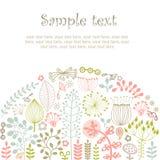 Sommerwaldkarte Stockfoto