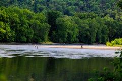 Sommerzeit auf dem Delaware River Easton Pa Stockbilder