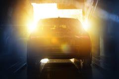 Sommerzeit-Auto-Reinigung lizenzfreie stockfotografie