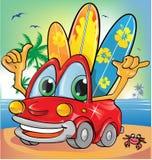 Sommerzeit-Autokarikatur Lizenzfreie Stockfotografie