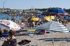 Sommerzeit an der kroatischen Küste Stockfotografie